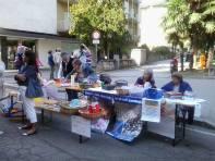 Luino - gli stand in piazza di #condividiamo