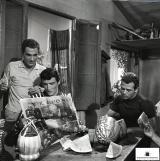 Nino Manfredi, Vittorio Gassman e Renato Salvatori in Audace colpo dei soliti ignoti (1959), di Nanni Loy - Foto di Leo Massa