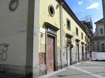 Refettorio Ambrosiano: il cantiere da piazza Greco