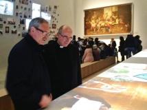 Il cardinale Daniel Fernando Sturla Berhouet con monsignor Pasquale Iacobone
