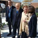 Giorgio Napolitano con la moglie Clio