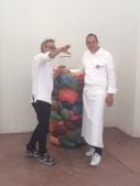 Gli chef Massimo Bottura e Daniel Humm