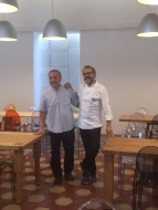 Massimo Bottura con don Giuliano Savina