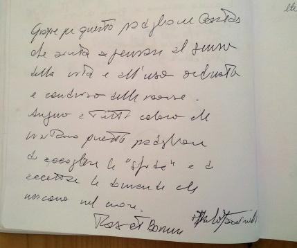 La dedica di mons. Paolo Martinelli