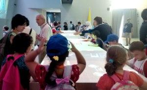 I bimbi del centro estivo dell'istituto padre Beccaro di Milano