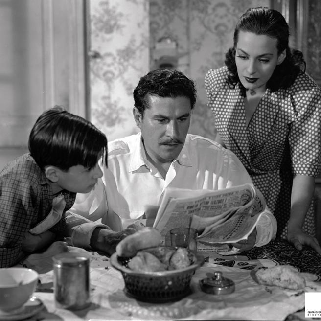 Gianfranco Magalotti, Amedeo Nazzari, Yvonne Sanson in Catene (1949), di Raffaello Matarazzo - Foto di Vincenzo Palmarini per Vaselli