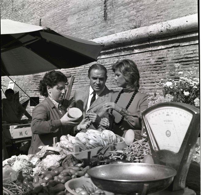 Ugo Tognazzi e Claudia Cardinale in L'udienza (1972), di Marco Ferreri - Foto di Divo Cavicchioli