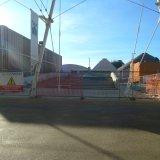 Lo spazio della Fabbrica del Duomo, a fianco dell'Edicola, senza la Madonnina